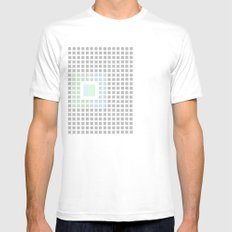 Hide and Seek White Mens Fitted Tee SMALL