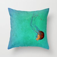 Deep Sea Ballet Throw Pillow