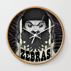 Roller Derby Zebra Referee Ref Logo by Ronkytonk Wall Clock