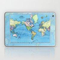 Mercator Map of Ocean Currents Laptop & iPad Skin