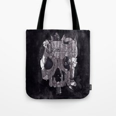 Metal Skull Tote Bag
