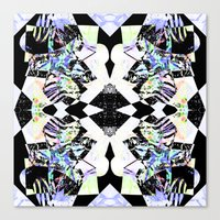 Graphic Zebra  Canvas Print