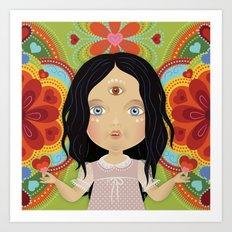 3rd Eye Doll Art Print