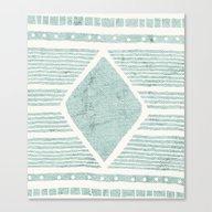 Tribal Textile Pattern Canvas Print