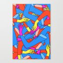 Transferral Race Canvas Print
