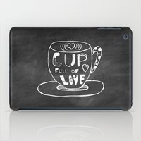 Cup Full Of Love Chalkboard iPad Case