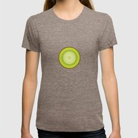 Kiwi poster Womens Fitted Tee Tri-Coffee SMALL