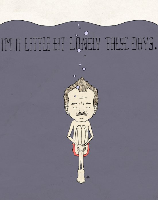 """I'm A Little Bit Lonely These Days."" - Blume Art Print"