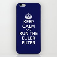 Keep Calm and Run the Euler Filter iPhone & iPod Skin