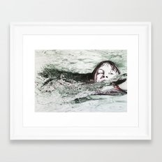 Go Swimming Framed Art Print