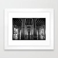 River Cathedral Framed Art Print