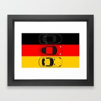 German Horsepower Framed Art Print