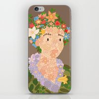 Flora By  Giuseppe Arcim… iPhone & iPod Skin