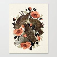 Canvas Print featuring Spangled & Plumed by Teagan White