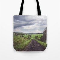 Road to nonexistent village Tote Bag