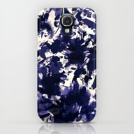 Abstract Floral In Deep … Galaxy S4 Slim Case