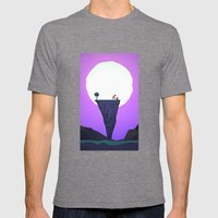 Full Moon Mens Fitted Tee Tri-Grey SMALL