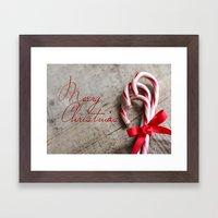 Merry Christmas Candy Ca… Framed Art Print