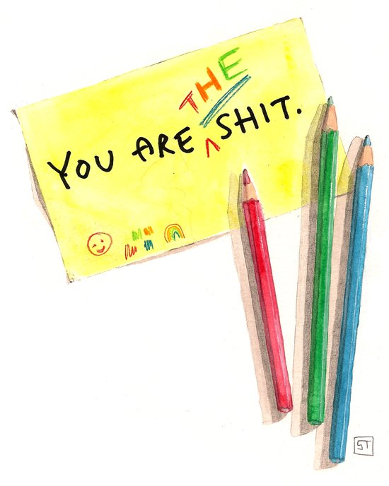 You Are The Shit Canvas Print