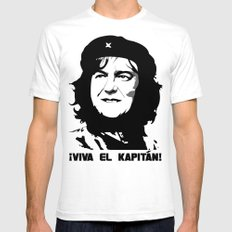 May Guevara SMALL Mens Fitted Tee White