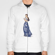 Vintage Hawaiian Print Girl Fashion Illustration  Hoody