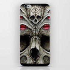spider skull iPhone & iPod Skin