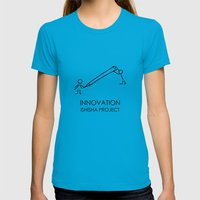 INNOVATION by ISHISHA PROJECT Womens Fitted Tee Teal SMALL