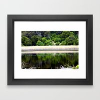 Inside a Crater Framed Art Print