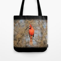 Cardinal In The Evening … Tote Bag