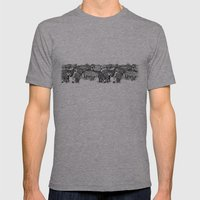 Zebra Print Mens Fitted Tee Athletic Grey SMALL