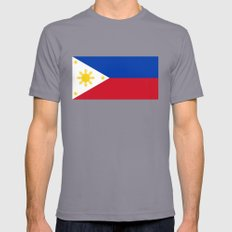 Republic of the Philippines national flag (50% of commission WILL go to help them recover) Mens Fitted Tee Slate SMALL