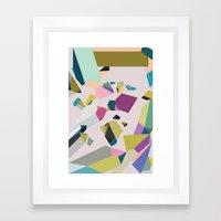 Crystals Framed Art Print