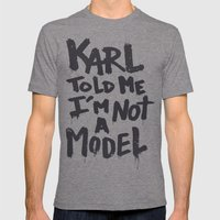 Karl Told Me... Mens Fitted Tee Tri-Grey SMALL