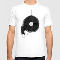 Music Catcher Mens Fitted Tee White SMALL