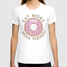 Do's and Donuts Womens Fitted Tee White SMALL