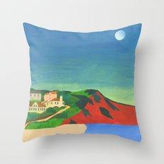 Morning Moon Throw Pillow