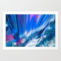 Rapture In Blue   Abstra… Art Print