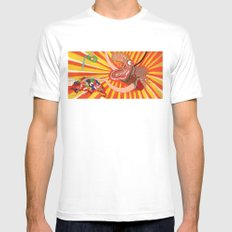 Julia Mens Fitted Tee SMALL White