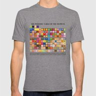 The Periodic Table Of Th… Mens Fitted Tee Tri-Grey SMALL