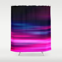 purple sunset II Shower Curtain