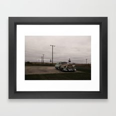 Ran when parked Framed Art Print