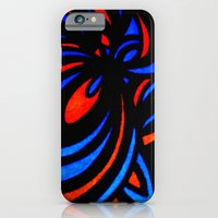 iPhone & iPod Case featuring Blue & Orange  by ElifsArt