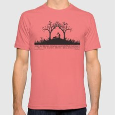 Edgar Allan Poe Black and White Illustrated Quote  Mens Fitted Tee Pomegranate SMALL