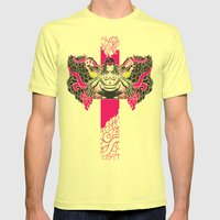 Sherock with Guitars Mens Fitted Tee Lemon SMALL