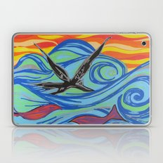 The ocean, waves, birds, and fishes Laptop & iPad Skin