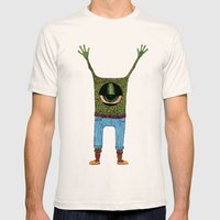 One Eyed Hipster Mens Fitted Tee Natural SMALL