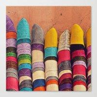 Babouches Canvas Print