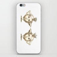 Siamese Queens iPhone & iPod Skin