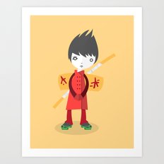 Little Ninja Art Print