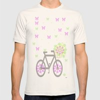 happy byke Mens Fitted Tee Natural SMALL